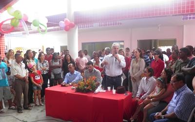 O prefeito Beda destacou a importância da Obra  para Uubaitaba