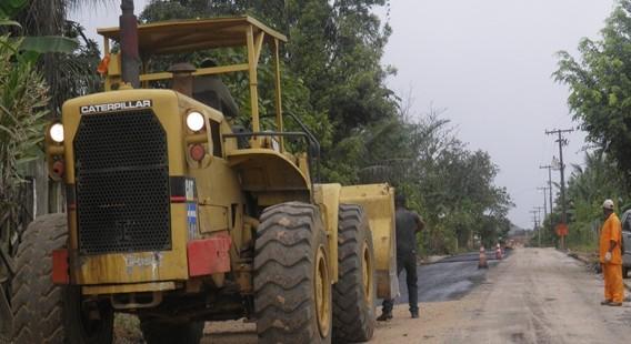 As obras estão aceleradas neste trecho da estrada