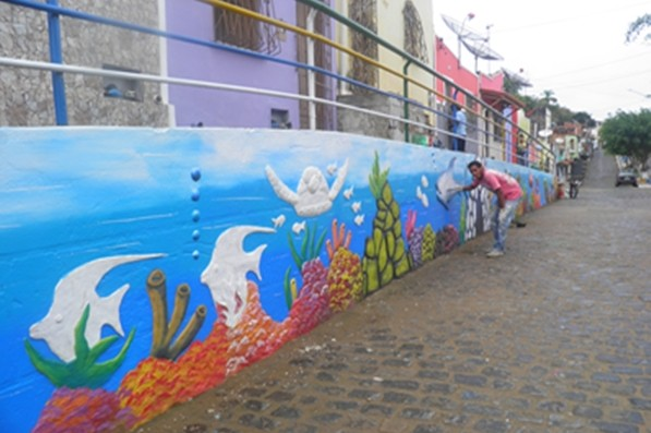 A prefeitura pretende levar a arte para outras ruas da cidade