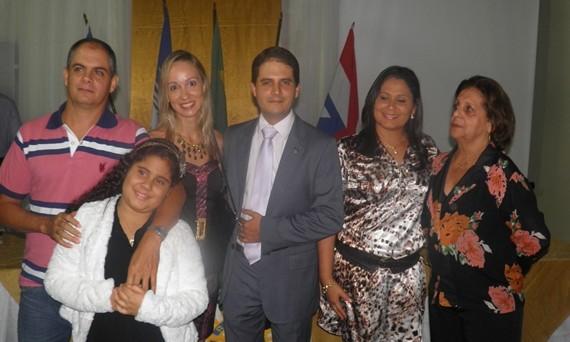 Márcia contou com a presença da família na solenidade de sua posse