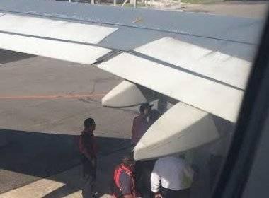 Um urubu entrou em uma das turbinas do avião