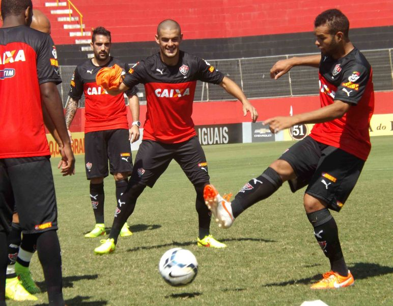 O time do Vitória encerrou a preparação para encarar o Flamengo neste domingo