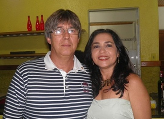 Elma ao lado do maridão Paschoal, comemora idade nova no dia 20/09