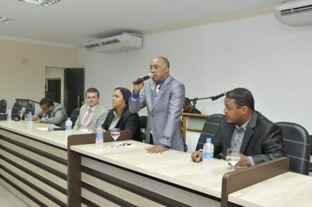 Diplomata fala em gestão séria e compromissada (Foto: Valdir Santos/Ubatã Notícias)
