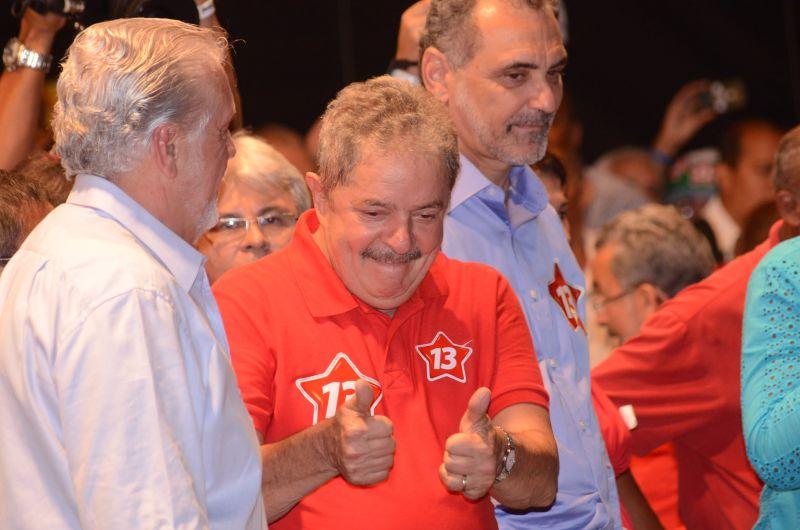 Lula vem  reforçar campanha de Rui costa