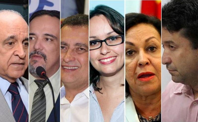 Os candidatos ao governo da Bahia estão com a agenda lota para hoje