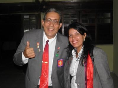 Danilo ao lado da esposa Fernanda apresentou suas metas para o ano rotário 2014/2015