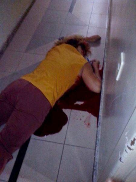 A recepcionista Elizabete Brito Santos foi morta com um tiro dentro do local de trabalho