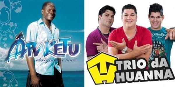 Araketu e Trio da Huanna animam evento na noite deste sábado