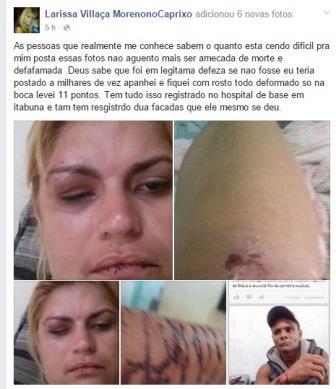A ex- esposa de Moreno diz  que sofreu muitas agressão do cantor