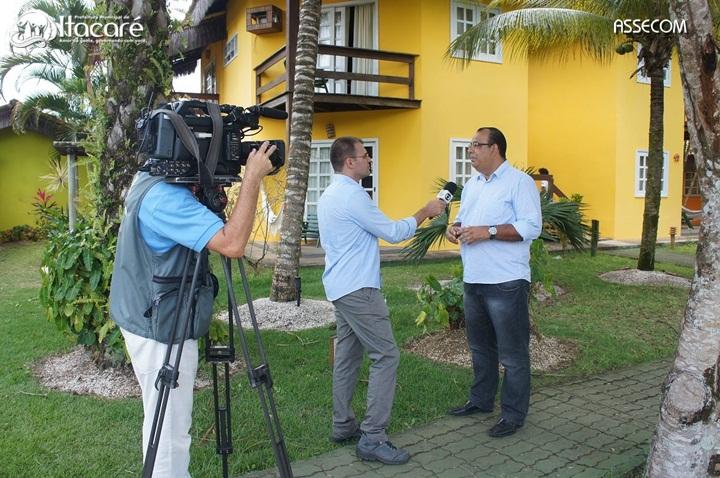 Jornalista de diversos veículos de comunicação já começaram a chegar para cobrir o evento