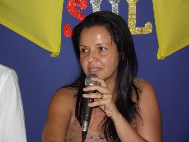 A prefeita Liu Andrade está comemorando a vitótia dos seus candidatos