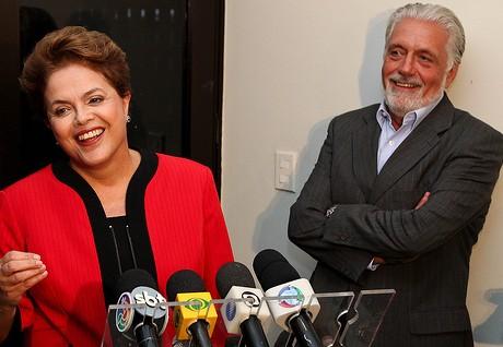 O governador foi recebido pela presidente reeleita, Dilma em Brasilia
