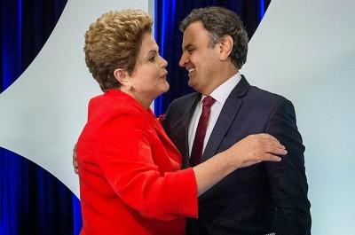 O Candidato derrotado parabeniza Dilma pela vitória
