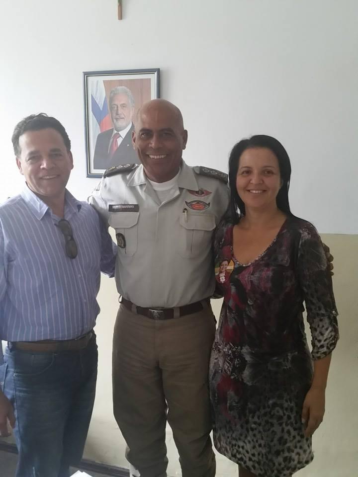 Prefeita Liu Andrade e o vereador, Bruno Moisés foram cobrar mais Segurança para os distritos