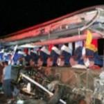 ACIDENTE COM ÔNIBUS DE ESTUDANTES DEIXA 10 MORTOS  EM  S. PAULO