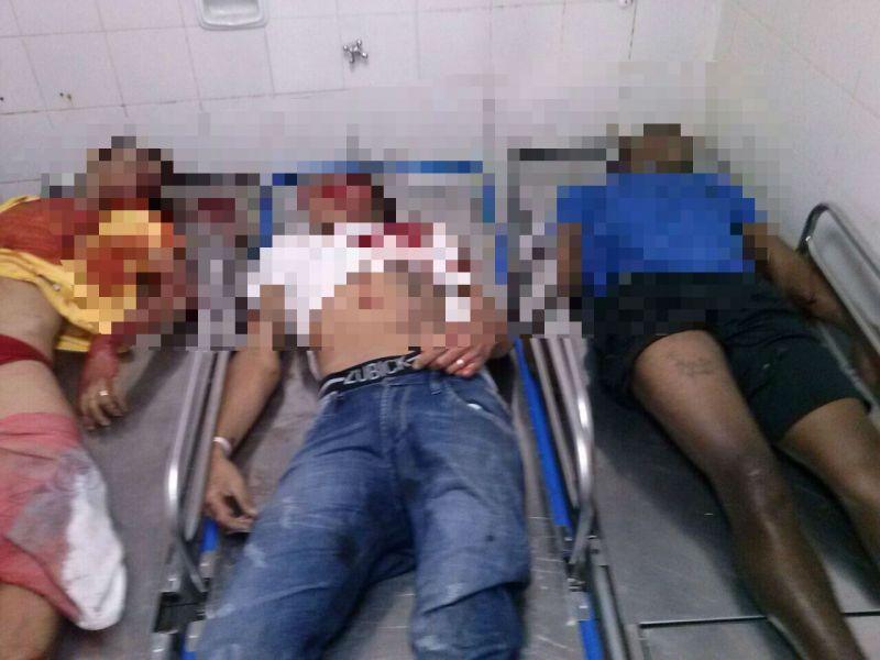 O bandidos foram encaminhados para o hospital mas não resisitiram