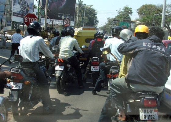 O transito em Bangalore (Índia