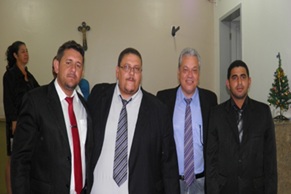 A nova Mesa diretora, Bal, presidente, Zé Carlos -vice,. Ismaile, 1º Secretario e Marcelo da Padaria, 2º secretário secretário