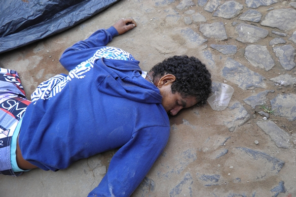 O corpo foi encontrado na Praça em Faisqueira
