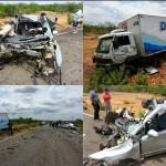 COLISÃO ENVOLVENDO AUTOMÓVEL E CAMINHÃO MATA 4 MULHERES