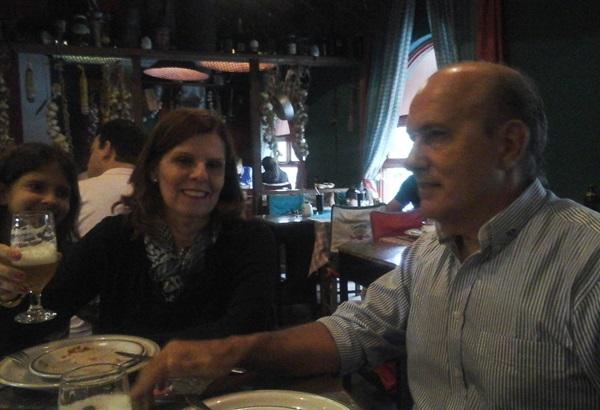 LKekede e Elied conheceram a culinária nos bons restaurante de Gramado