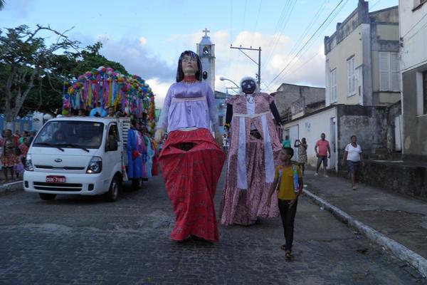 Os bonecos gigantes foram as principais atrações