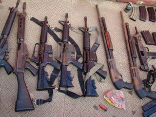 Um arsenal foi encontrado com o bando