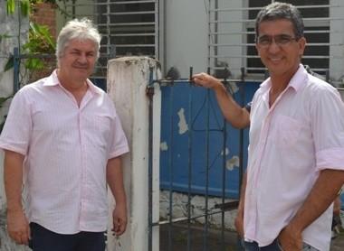 O prefeito Bêda e o presidente do Conselho de segurança Karlos Moda