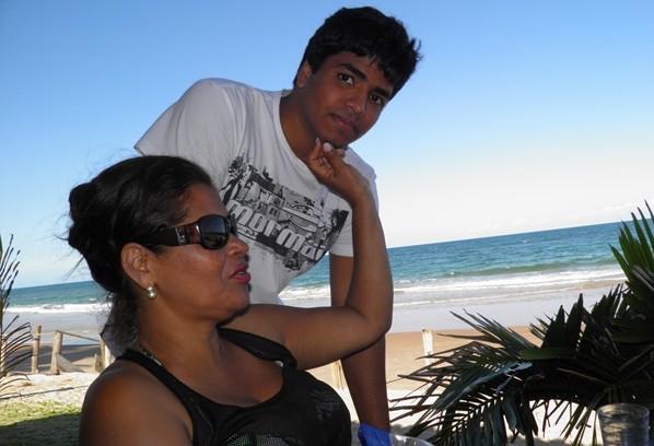 David recebeu o carinho da mamãe, Norma Ribeiro