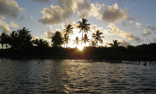 O Pôr-do - Sol é deslumbrante