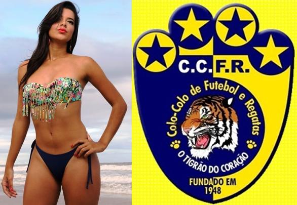 A modelo ilheense Ayla Camilly sonha em ser musa do Colo-Colo