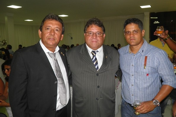 Careca, Daí e Braga, durante coquetel de posse da Diretoria da CDL