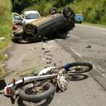 AURELINO LEAL: MOTOCICLISTA MORRE AO COLIDIR COM VEÍCULO NA CURVA DO PADRE
