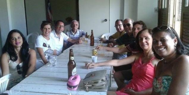 Rotarianos e amigos em momento de descontração