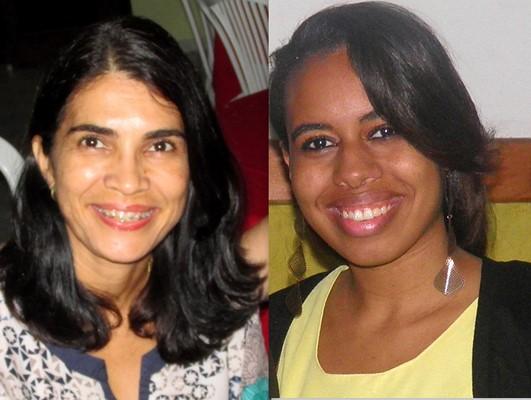 Jorquélia Botelho (esq.) e Luíse Beatriz serão as novas rotarianas do Rotary de Ubaitaba