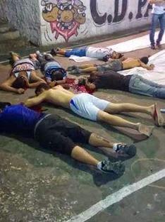 Sete vítimas faleceram no local e uma ficou ferida, foi levada ao Hospital das Clínicas, mas não resistiu.