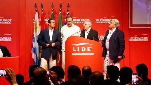 Jorge Quiroga, Vicente Fox, Fernando Henrique Cardoso e Luis Alberto Lacalle - Crédito: Gustavo Rampini