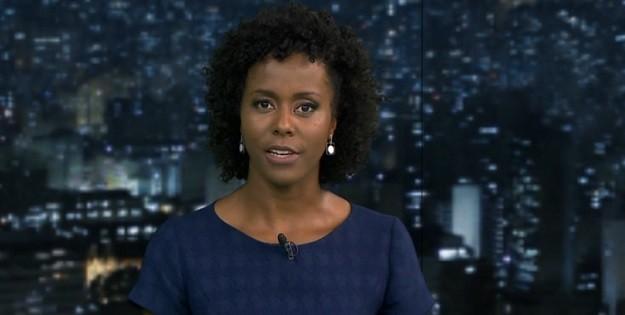 Maria Júlia Coutinho, que vem fazendo sucesso no Hora Um e no Bom Dia Brasil