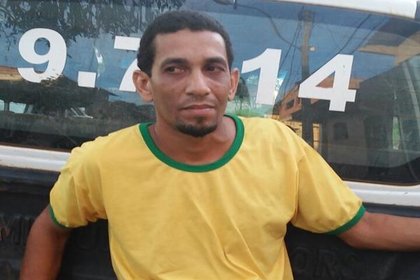 O traficante Leandro Silva Santos foi preso com certa quantidade de maconha