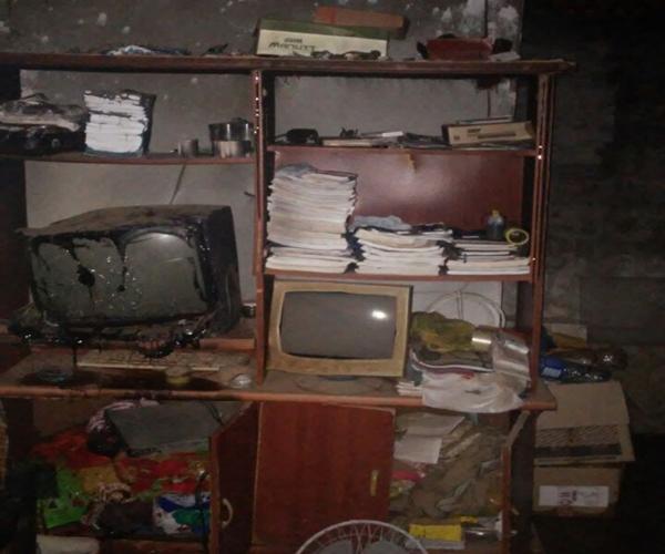 Documentos e utensilo domésticos foram destruidos