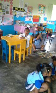 Dezenas de crianças do curso infantil foram  beneficaidas com doações dos equipamentos