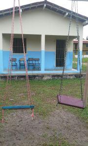 Equipamentos de laser foram instalados no pátio da escola