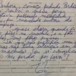 LADRÃO EX-EVANGÉLICO DEVOLVE PARTE DE MATERIAL ROUBADO E PEDE PERDÃO EM BILHETE