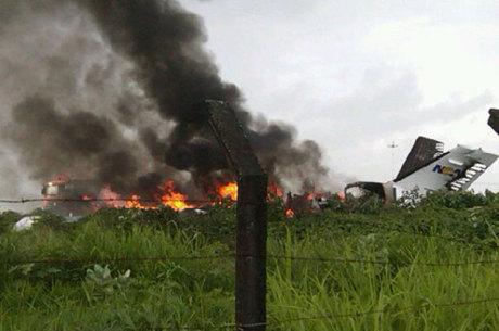 Aeronave caiu no bairro Córrego do Paiol, zona rural da cidade  neste sábado (11)
