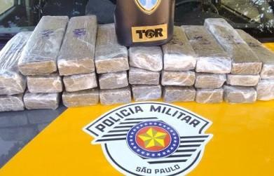 Droga era levada em ônibus, para BH (Foto: TOR/Divulgação)