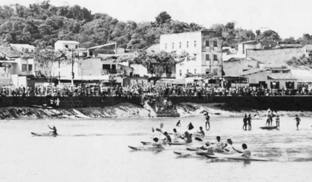 As primeiras competições na Av. Beira Rio, reunia milhares de pessoas