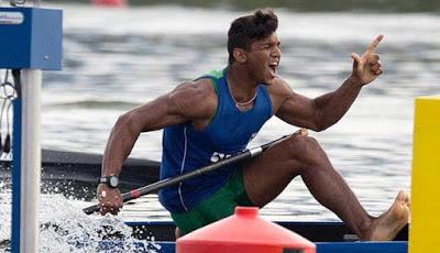 Isaquias Queiroz, da cidade de Ubaitaba, sul da Bahia, se classificou para a sua terceira final