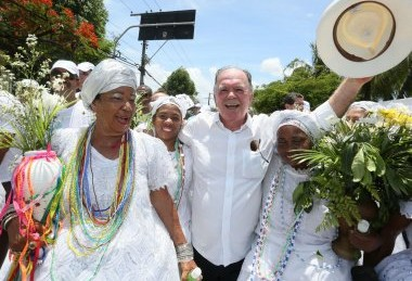 Vice-governador na Lavagem do Bonfim | Foto: Mateus Pereira/GOVBA