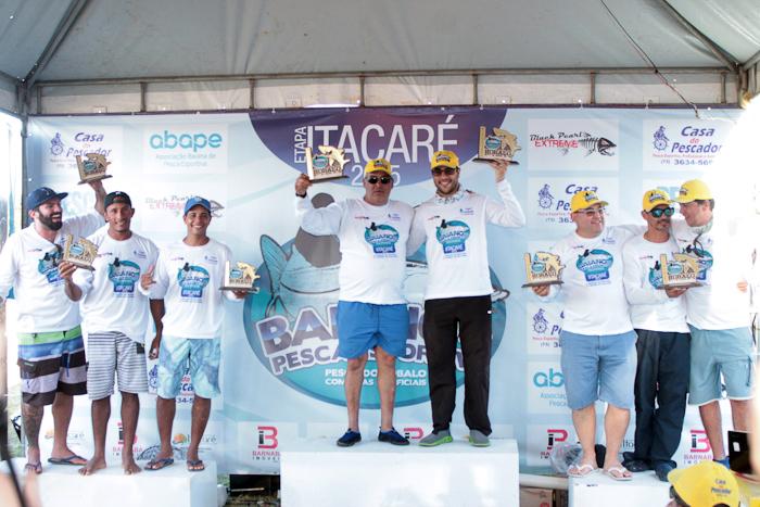 A equipe vencedorafoi composta por João Cuiuda e Marcel Werner e somou 3.660 pontos, já o 2º lugarficou com a equipe Bavil com 2260 pontos, formada por Zé e Júnior Bavil e o 3º lugar quem conquistou foi a equipe Maré Pesca com Fábio, Irlandson e Pedro que juntos obtiveram 1650 pontos